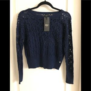 ❤️ 3/20 NWT Only Blue Crop Top